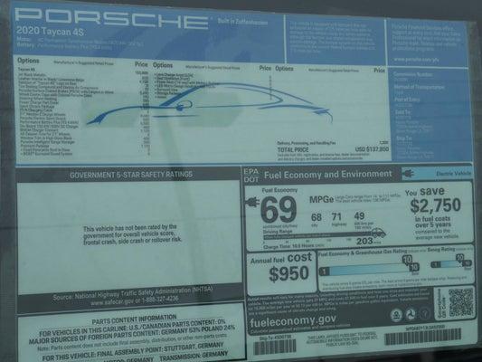 2020 Porsche Taycan 4s In Baton Rouge La Baton Rouge Porsche Taycan Brian Harris Porsche